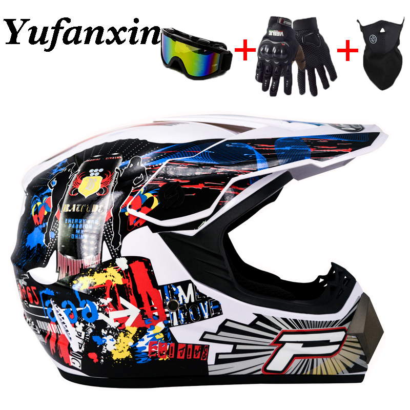 Super-Cool Motorcycle Off-road Helmet ATV Dirt Bike Helmet MTB Downhill Full Face Helmet Free 3 gifts&a lot of Design capacetes title=