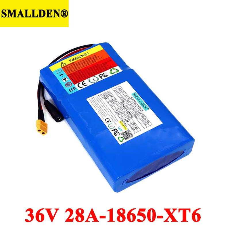 36V 28Ah Lithium Battery Pack 18650 28000mAh High rate 20A BMS for Balancing scooter E-bike lawn mower with 42V batteries image
