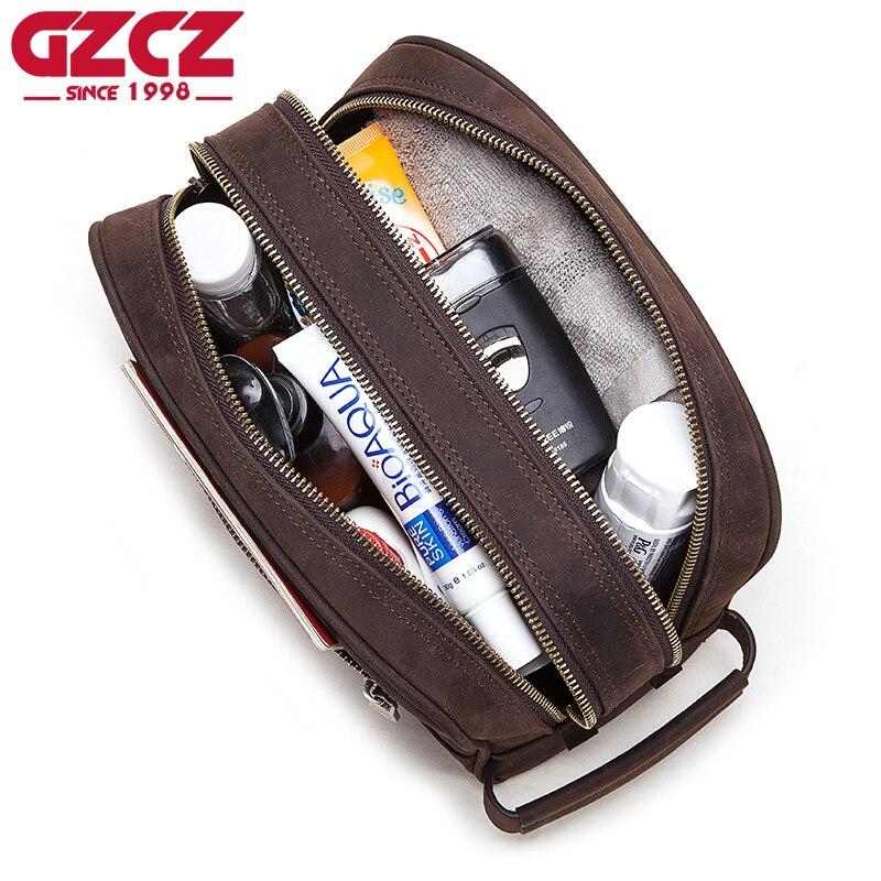 GZCZ High Quality Crazy Hoser Handbag Men For Briefcase Male Crossbody Hand Sling O Handles Tote Shoulder Bolsas Casual Bag Men