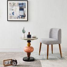 Художественный и креативный минималистичный конец стола shuffle цветной засахаренный фруктовый приставной столик несколько стопок деревянное домашнее украшение