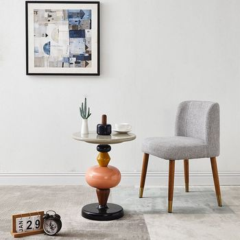 artistical and creativity minimalist end table shuffle colored candied fruit side table a few piles of wood home  decoration