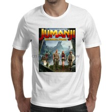 Jumanji Movie Poster 2017 White T-Shirt Size S-5XL(China)