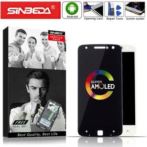 Image 1 - Original AMOLED Für Motorola Moto Z Droid XT1650 LCD Display Touchscreen Digitizer XT1650 01 XT1650 03 Bildschirm mit Burn Schatten