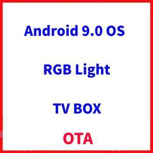 Image 3 - Luz rgb amlogic s905x3 smart tv caixa android 9.0 4gb ram 64gb rom a95x f3 max suporte 8k flex media player ota duplo wifi 2/16g