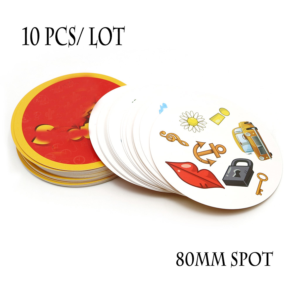 Wholesale 10 Pcs/lot Red Spot Board Game High Quality Classical Pair It Dobble Kids Family Party Fun Card Game