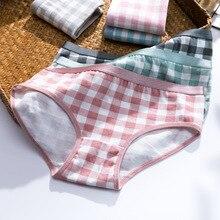 Girl Panties Underwear Briefs Lingerie Cotton Plaid 4pcs/Lot Comfortable Soft New-Fashion