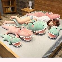 Funny Soft Simulation Crocodile Plush Toy Cartoon Animal Alligator Stuffed Doll Bed Sleeping Pillow Cushion Friend Birthday Gift