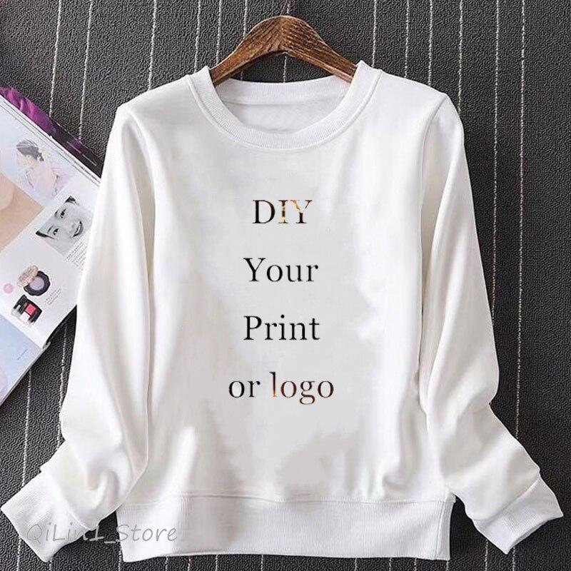 High Quality DIY Custom Sweatshirt Men Women Unisex Print Customized Tracksuit Free Shiping Pullover Drop Shipping Wholesale