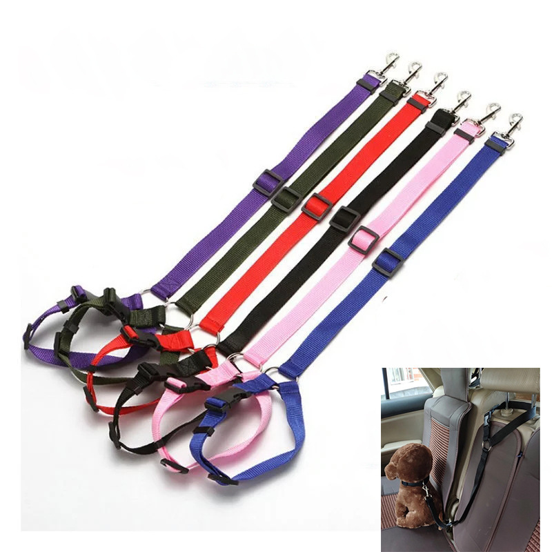 Pet New Products Nylon Tow Rope Dog Retractable Car Safe Supplies