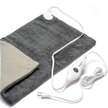 12*24 pad blanket quente cobertor elétrico almofada de aquecimento para abdômen cintura alívio da dor nas costas inverno mais quente 3 controlador de calor eua/ue plug