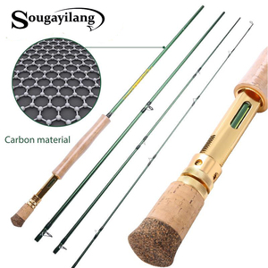Image 1 - Sougayilang Удочка из углеродного волокна двойного использования 2,9 м, 4 секции, удочка для ловли нахлыстом, спиннинг, уличная удочка для ловли окуня