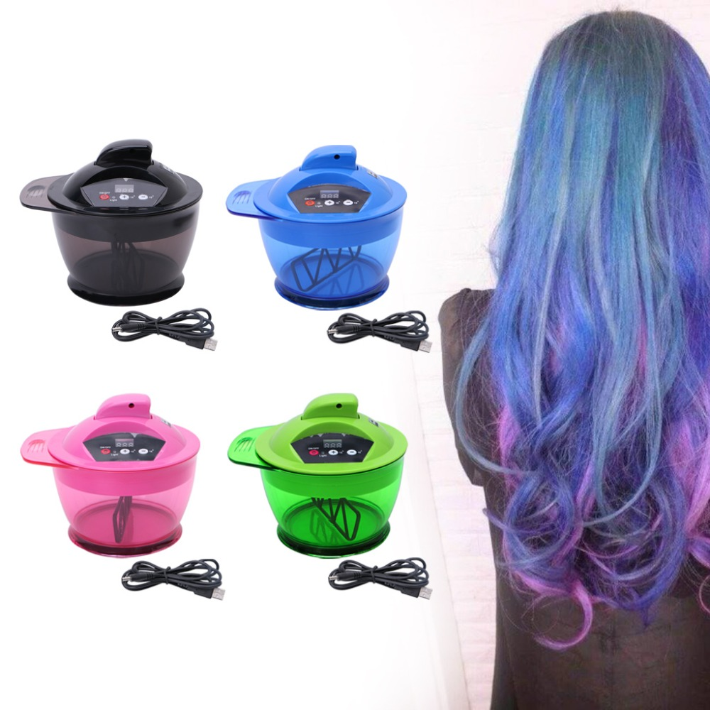 Brushes For Dyeing Hair Professional Electric Hair Coloring Bowl Automatic Mixer For Hairs Color Mixing Salon #Y207E# Hot Sale