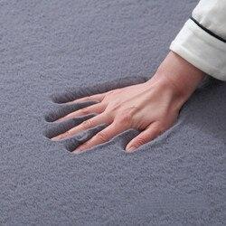 Europeu cor sólida macio tapete sala de estar quarto estudo de cabeceira decoração macia e quente corredor tapete de banho anti-slip do carpe