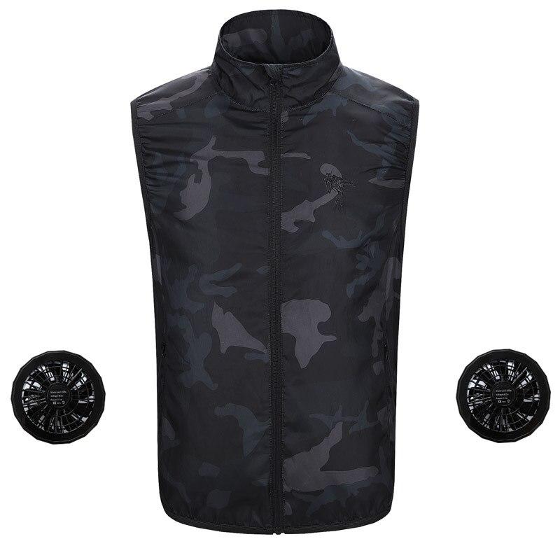 ZYNNEVA New Cooling Vest Summer Air Conditioning Clothing Fan USB Smart Charging Men Women Outdoors Sunscreen Skin Jacket GC1119