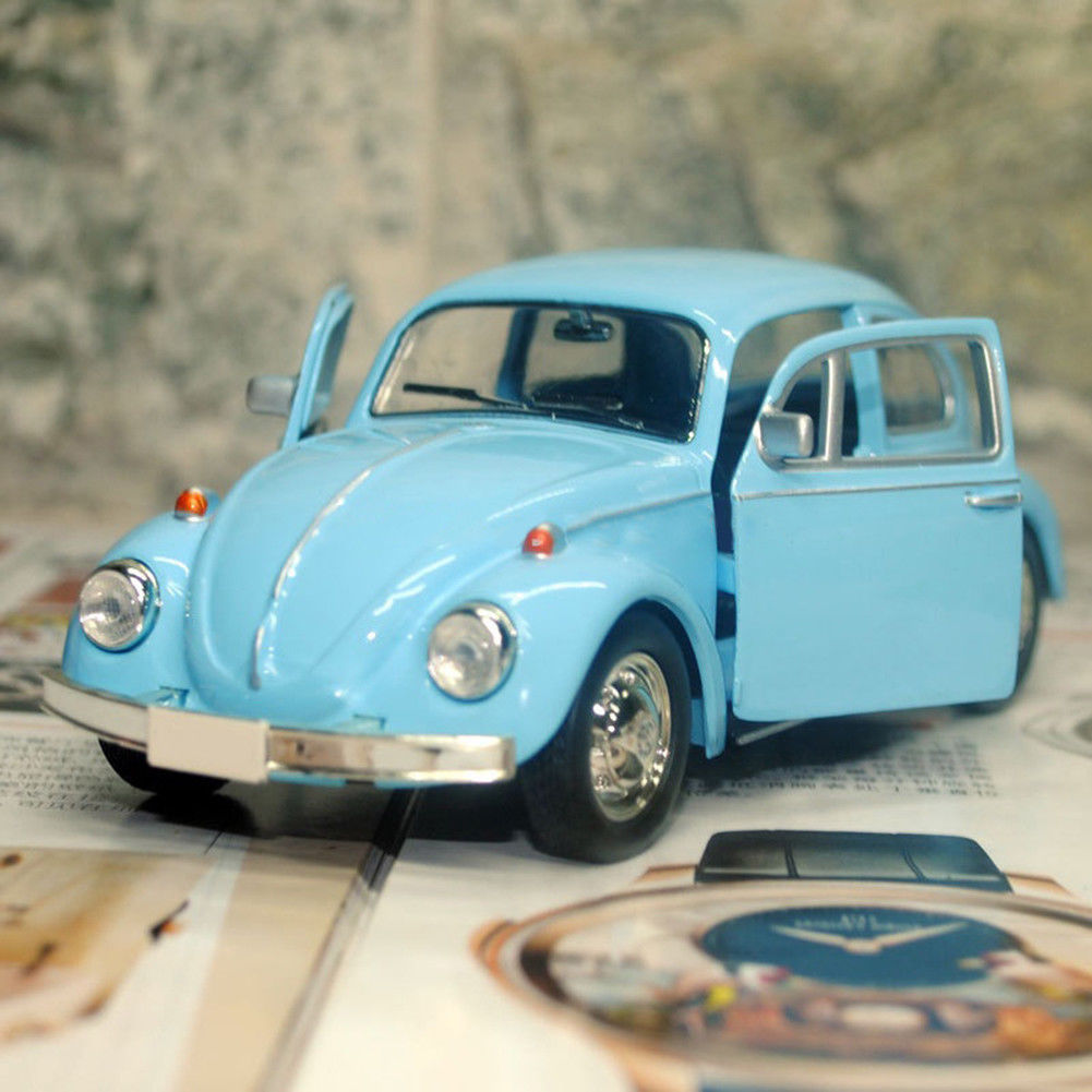 New Flexible Car Model Toy Alloy Rubber Vintage Beetle Diecast Pull Back Car Model Toy For Children Gift Decor Cute