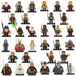 32pcs/lot Ring Lords Figure Set Frodo Baggins Gandalf Radagast Thranduil Elrond Galadriel Merry Building Blocks Model Bricks Toy