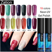 Zation Neon GEL NAIL Polish 5ML กึ่งถาวร Vernis UV Top Coat (China)