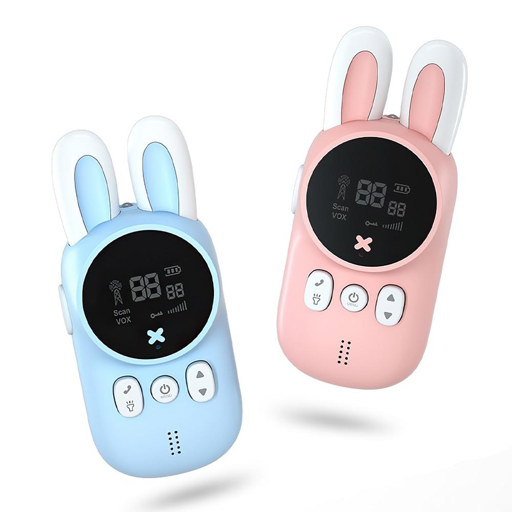 Children Walkie Talkie Hand Held Wireless Talk 3km Parent Child Toys Unisex with Light for Birthday Gift Family Park 2pcs/Set