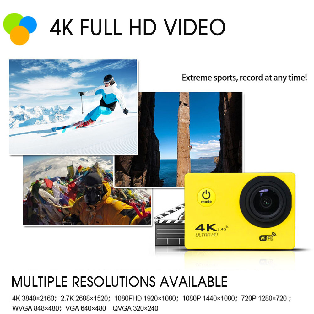 Action Camera Ultra Hd 4k 30fps Wifi 2