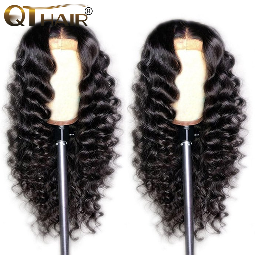 360 Lace Frontal Wig Pre Plucked With Baby Hair Loose Deep Wave 13x4 Lace Front Human Hair Wigs For Black Women Remy QT Hair Wig