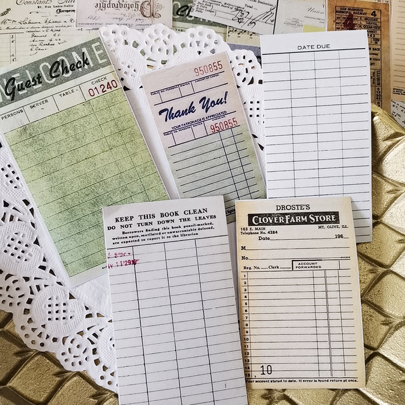 54Pcs/Set Vintage Ticket Label Sticker DIY Craft Scrapbooking Album Junk Journal Happy Planner Decorative Stickers