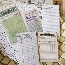 54 unids/set Vintage boleto etiqueta engomada DIY Scrapbooking álbum diario planificador feliz pegatinas