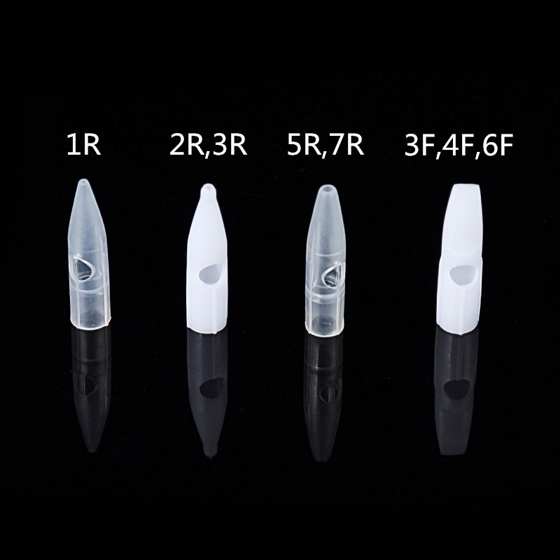 50pcs Needle Tip Permanent Makeup Needle Cap For Dragon /Mosaic/ Merlin Tattoo Machine Accesories Giant Sun G-8650