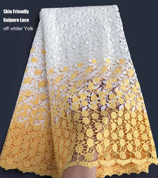 2 tunes super soft floral embroidery Guipure Lace cotton skin friendly African Cord lace fabric high quality
