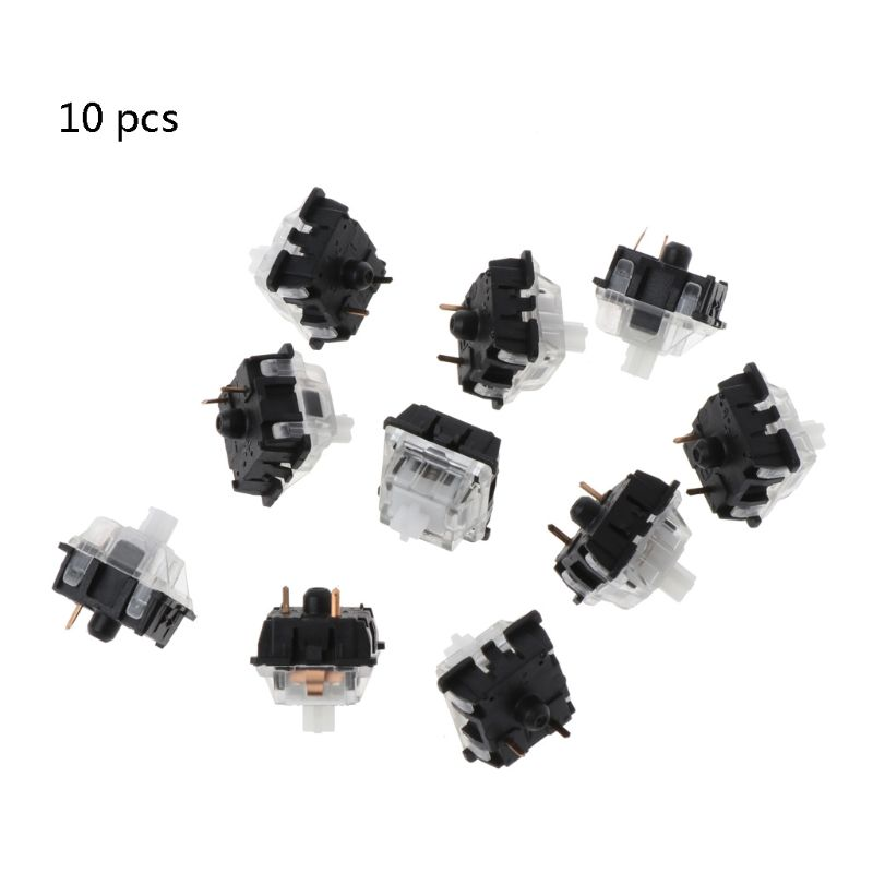 10Pcs/pack Mechanical Keyboard Gateron MX 3 Pin Clear Switch Transparent Case For Keyboard Cherry MX Compatible