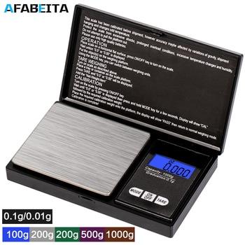 Точные цифровые весы для ювелирных изделий, 100/200/300/500/1000 г 0,01/0,1 г Карманные весы с ЖК дисплеем для кухни, ювелирных изделий|Весы|   | АлиЭкспресс