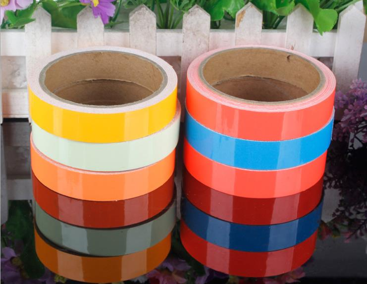 30cm*45.7M Multicolor Luminous Tape Self-adhesive Glowing Night /Dark Safety Stage Striking Warning Safety Tape