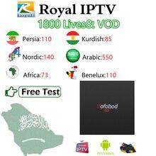 Sofobod R1 ТВ коробка+ королевский IP ТВ скандинавский курдский персидский Африканский арабский Россия IP ТВ m3u Mag S905W Wifi Android OS 1G8G Смарт ТВ коробка