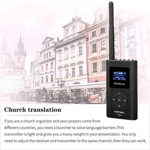 Image 4 - RETEKESS FT11 0.3W Wireless FM Broadcast Transmitter MP3 Portable for Church Car Meeting Support TF Card AUX Input