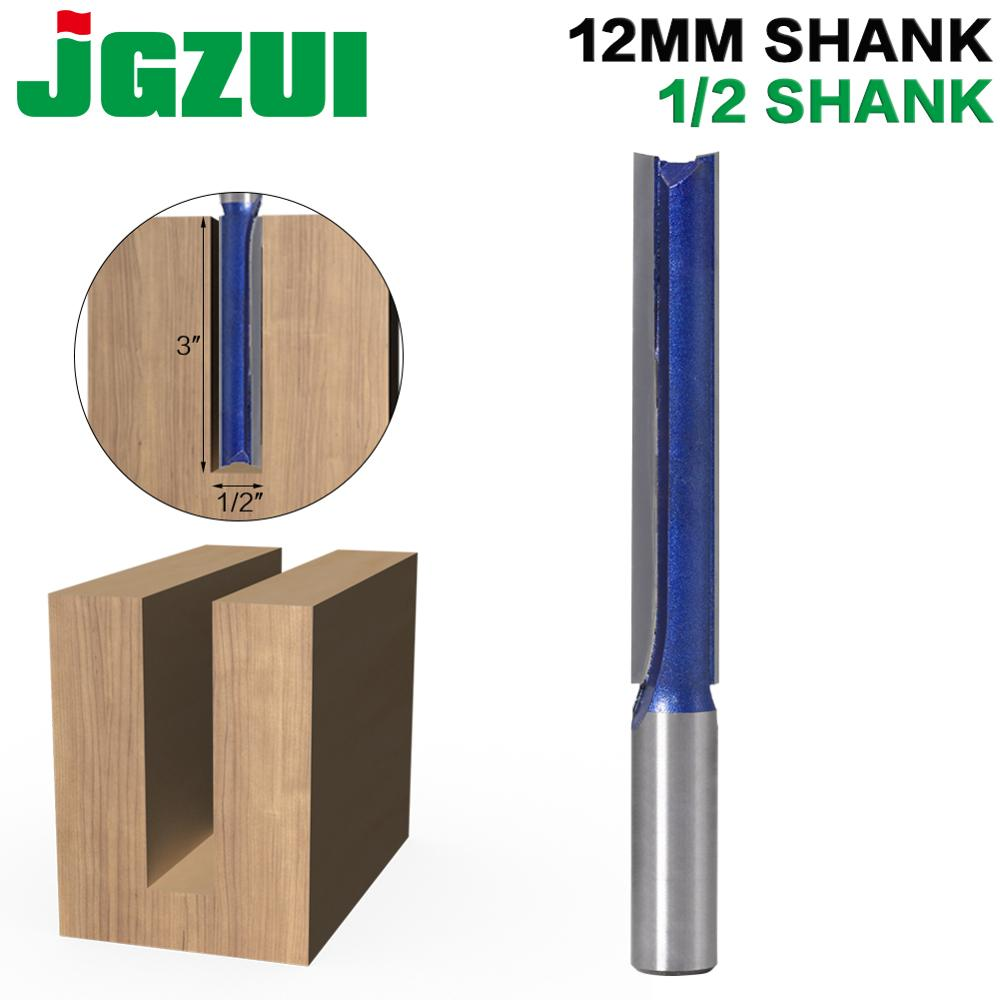 """1 Pc 1/2"""" ,12MM SHANK Extra Long 3"""" Blade 1/2"""" Cutting Dia. Straight Router Bit Woodworking Cutter Tenon Cutter For Woodworking"""