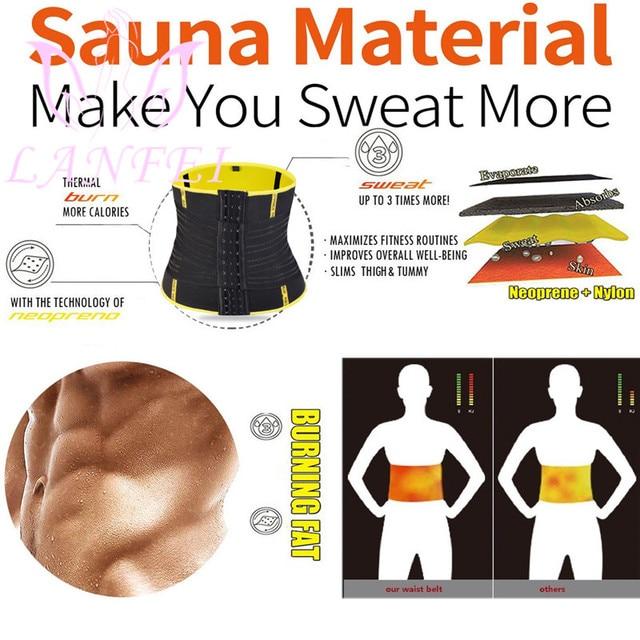LANFEI Men Waist Trainer Double Strong Compression Pull Straps Wasit Trimmer Body Shaper Belt Neoprene Sweat Slimming Shapewear 1