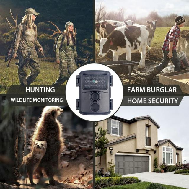PR600 Hunting Camera 12MP 38 IR LED 3MP Color CMOS FHD 1080P Night Vision 0.8s Trigger Time Wildlife Cameras IP54 Waterproof New 5