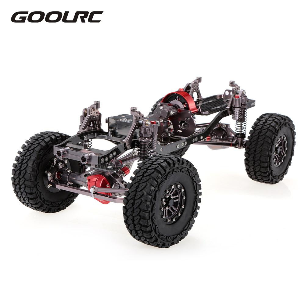RC Racing CNC Aluminum Metal And Carbon Frame For RC Car 1/10 AXIAL SCX10 Chassis 313mm Wheelbase Vehicle Crawler Cars Parts