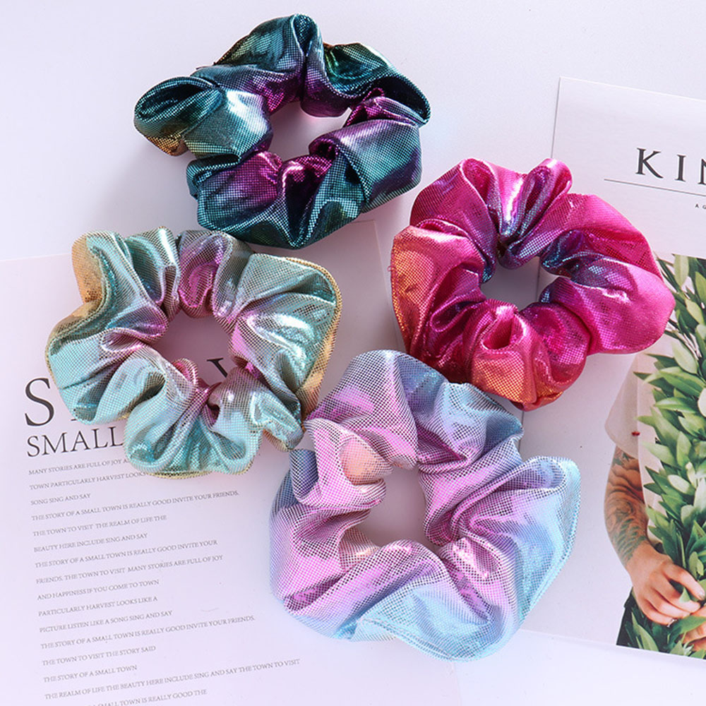 1PC Colorfu Hair Accessories For Women/Girl Gradient Elastic Gun Hairbands Ponytail Holder Scrunchies Tie Rubber Hair Rope