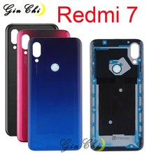Orijinal 6.26 ''xiaomi Redmi 7 arka pil kapağı yedek parçalar için Redmi7 M1810F6LG pil kapağı arka cam
