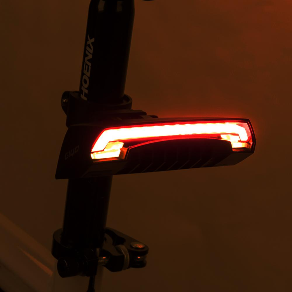 Wireless Bicycle Rear Signal Light Laser Tail Lamp Smart USB Rechargeable Bike Cycling Accessories Remote Turn Led Signal Light