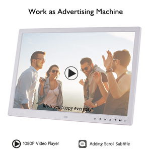 Image 4 - Andoer ulepszony 17 Cal LED fotografia cyfrowa ramka elektroniczny Album fotograficzny 1080P maszyna reklamowa 1440*900 z pilotem