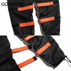 Image 5 - GONTHWID erkek yan cepler kargo Harem pantolon 2020 Hip Hop rahat erkek taktik Joggers pantolon moda rahat Streetwear pantolon