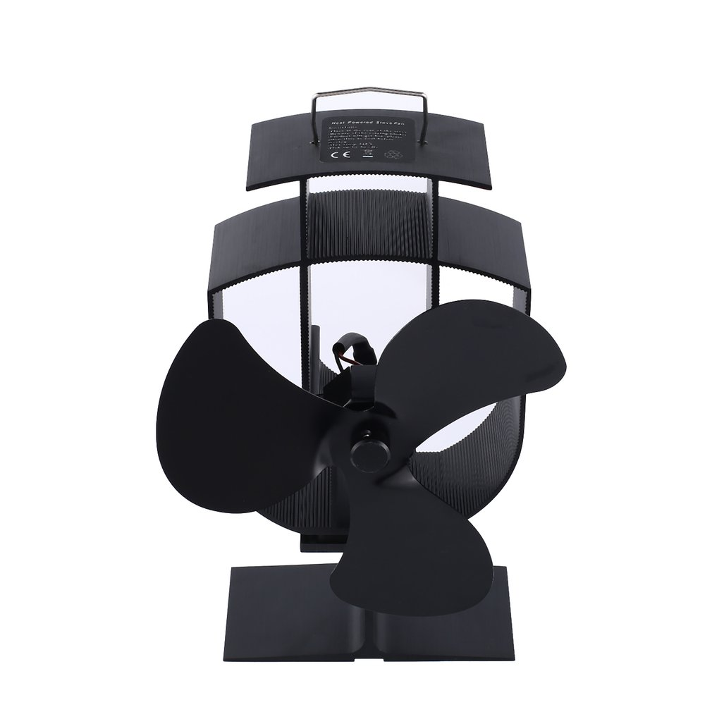 3 Blade Ventilator Fireplace Fan Thermal Power Professional Ventilator Fireplace Fan Thermodynamic Trefoil Black YL-401