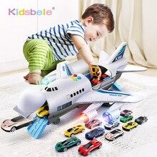أطفال ألعاب محاكاة المسار الجمود طائرة الموسيقى ستروي ضوء طائرة Diecasts و لعبة سيارات الركاب طائرة سيارات لعبة الأولاد اللعب
