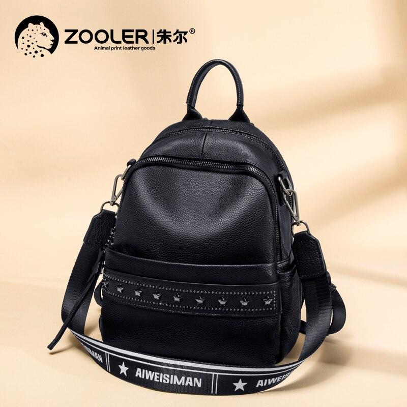 YUPINXUAN большой емкости холщовые кожаные рюкзаки для подростков водонепроницаемые школьные рюкзаки большой износостойкий рюкзак из парусин... - 4