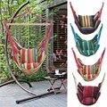 Полосатый холщовый гамак качели для дома и сада  подвесной гамак  кресло для отдыха  качели с подушками  открытый гамак для кровати
