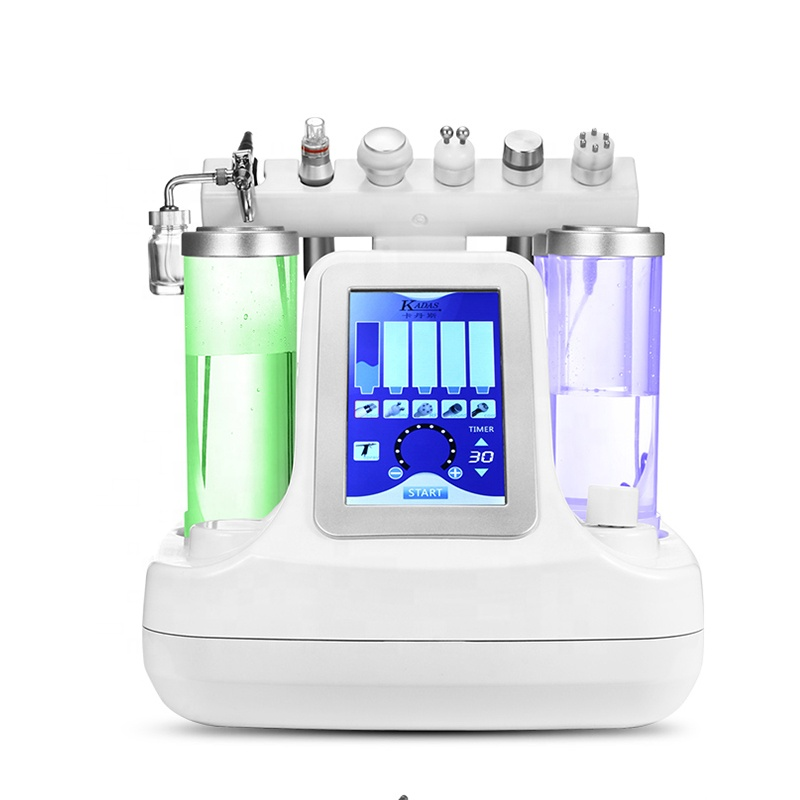 NEW 6 In 1 Hydra Dermabrasion Aqua Peel Clean Skin Care BIO Light RF Vacuum Face Cleaning Hydro Water Oxygen Jet Peel Machine