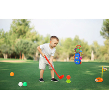 10 PCs/Set Golf Mini Set Ball Game Kit Golf Kids Security Practice Toy Children Gifts Outdoor Sports Equipment Gift