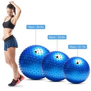 Image 4 - Мяч для йоги с защитой от взрывов, утолщенный стабильный баланс для пилатеса, физического упражнения, подарок, воздушный насос, 55 см/65 см/75 см
