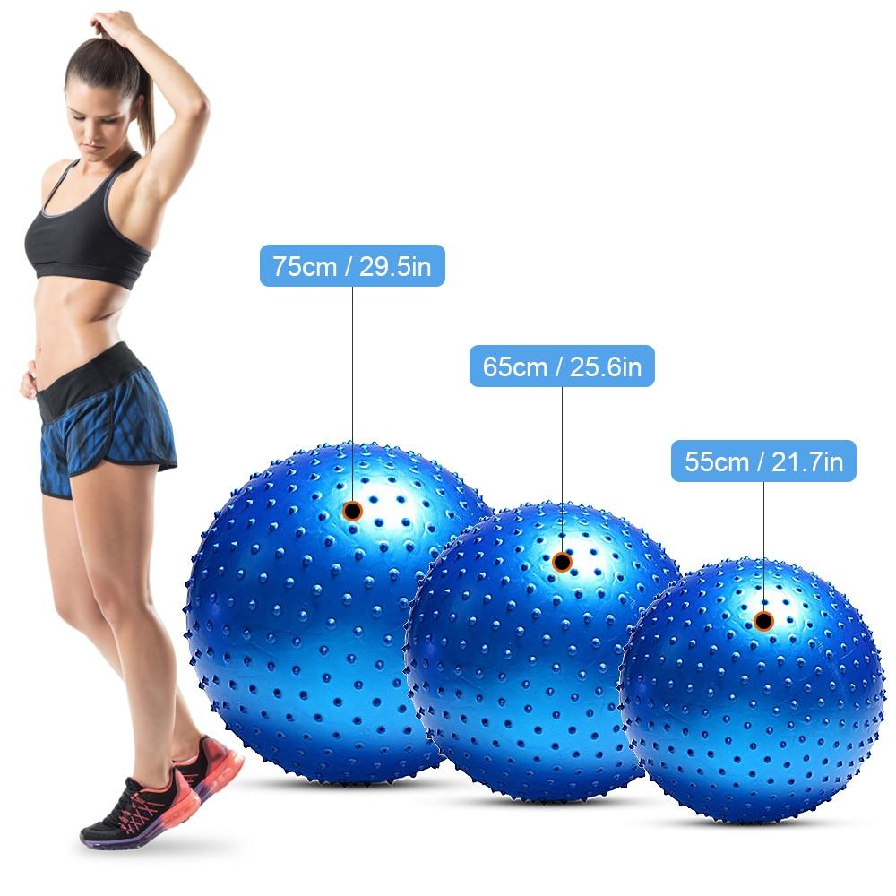 Image 4 - 55CM / 65CM / 75CM Anti burst Yoga Ball Thickened Stability Balance Ball Pilates Physical Fitness Exercise Ball Gift Air PumpYoga Balls   -